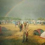 Rainbow after shower. Pennard Hill Wednesday afternoon 2000.