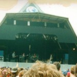 The late Kirsty McColl on the pyramid stage