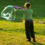 Away with her bubble