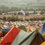 view of pyramid stage when there was nothing else going on in the fields beyond it