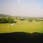View from Muddy lane towards the Pyramid stage before the public arrive