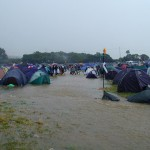 Didn't realise there was a river running through the campsite!