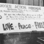 Digger Action Movement provided food kitchens at early events.
