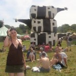 Cow sculpture in The Green Fields.