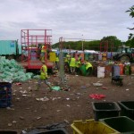 In the yard of the recycling centre (this is where I first heard of Jacko's death)