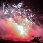 Wednesday fireworks above the Tipi field