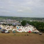 View from the new Strummerville site on the Monday morning