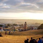 Monday morning sunrise from the hill - Glastonbury 2017