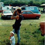 Justin and friend at Glastonbury 1986!