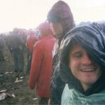Myself and mate Huw getting soaked during Morrissey at the Pyramid stage.