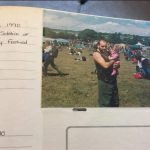My dad & I at my first Glastonbury
