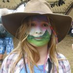 Amazing Glasto facepaint landscape with Tor and Cows 2