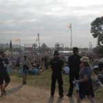 Just a cool shot of the Pyramid stage plus the lovely Police presence