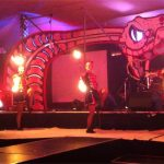 The Dangerettes fire troupe on Shangrila stage