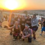 Our little Pilton group of friends from UK, USA and Australia